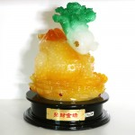 g160a coc cong cai vang 2 150x150 Thiềm thừ ngọc vàng cõng cải xanh (lớn) G160A