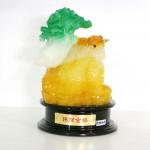 g161a coc vang cong cai xanh nho chieu tai kim thiem 1 150x150 Thiềm thừ ngọc vàng cõng cải xanh (nhỏ) G161A