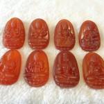 S6337 phat ban menh 150x150 Phật bản mệnh đá mã não đỏ tuổi Tuất + Hợi S6337 8