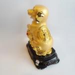 C018A tuong cho vang 2 150x150 Chó Vàng Dựa Gậy Như Ý Đế Gỗ C018A