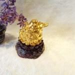 C066A thiem thu vang1 150x150 Thiềm thừ vàng nhỏ trên đế gỗ xoay C066A