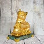 ln034 heo vang bon tu bao 1 150x150 Vua heo vàng ôm hũ vàng trên đế thủy tinh LN034