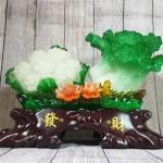 ln070 bap cai su lo lon 2 150x150 Bắp cải và hoa cải xanh trên bụi mẫu đơn lưu ly đế gỗ lớn LN070