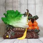 ln072 bap cai ho lo 2 150x150 Bắp cải xanh lớn bên cây hồ lô hồng đế gỗ LN072