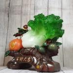 ln074 bap cai cam vang 150x150 Bắp cải xanh lớn bên cây trái cam đế gỗ LN074