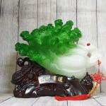 ln075 bap cai cuon nhu y cu lac 1 150x150 Bắp cải xanh lớn uốn như ý trên củ lạc gỗ LN075