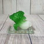 ln085 bap cai nho 150x150 Bắp cải xanh ngọc nhỏ trên đế thủy tinh LN085