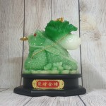 ln097 coc cong bap cai 150x150 Thiềm thừ xanh ngọc cõng bắp cải xanh nguyên bảo trên đế gỗ xoay LN097