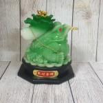 ln097 coc cong bap cai 2 150x150 Thiềm thừ xanh ngọc cõng bắp cải xanh nguyên bảo trên đế gỗ xoay LN097