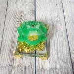 ln106 coc xanh dong tien 1 150x150 Thiềm thừ xanh ngọc trên đống tiền vàng đế thuỷ tinh LN106