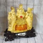 ln112 tam da sa kim vang 1 150x150 Tam đa phước lộc thọ vàng kim sa bên hũ vàng lưu ly lớn LN112