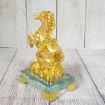 ln136 vua ngua nguyen bao 150x150 Vua ngựa vàng bóng trên nguyên bảo vàng tiền vàng đế thuỷ tinh LN136