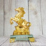 ln136 vua ngua nguyen bao 2 150x150 Vua ngựa vàng bóng trên nguyên bảo vàng tiền vàng đế thuỷ tinh LN136