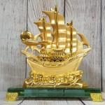 ln145 thuyen buom vang 1 150x150 Thuyền buồm vàng bóng lướt sóng thần vàng đế thuỷ tinh LN145