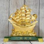 ln145 thuyen buom vang 2 150x150 Thuyền buồm vàng bóng lướt sóng thần vàng đế thuỷ tinh LN145