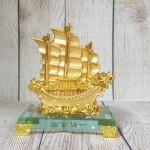 ln146 thuyen buom rong nho 150x150 Thuyền buồm song long vàng bóng trên sóng vàng đế thuỷ tinh LN146