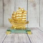 ln146 thuyen buom rong nho 2 150x150 Thuyền buồm song long vàng bóng trên sóng vàng đế thuỷ tinh LN146
