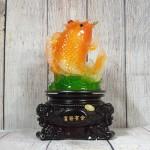 ln170 tien ca chep luu ly 2 150x150 Tiên cá chép vàng cam ngọc lưu ly vẫy sóng ngọc đế gỗ xoay LN170
