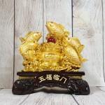 ln171 ngu tien ca chep 2 150x150 Ngũ tiên cá chép vàng bóng bên bồn kim bảo hồng châu trên sóng vàng LN171