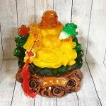 ln186 phat di lac luu ly 1 150x150 Phật di lạc cam vàng tay cầm như ý và bắp cải LN186