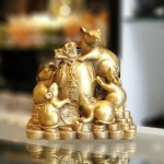 D293 gia dinh chuot 2 150x150 Hoàng gia ngũ tí trên tiền vàng D293