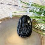 s6844 335 150x150 Phật bản mệnh đá hắc ngà lớn    Mão (Văn Thù Bồ Tát) S6844 3