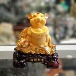 tm016 chuot vang dimh vang 150x150 Chuột vàng ôm đỉnh vàng trên gậy như ý TM016